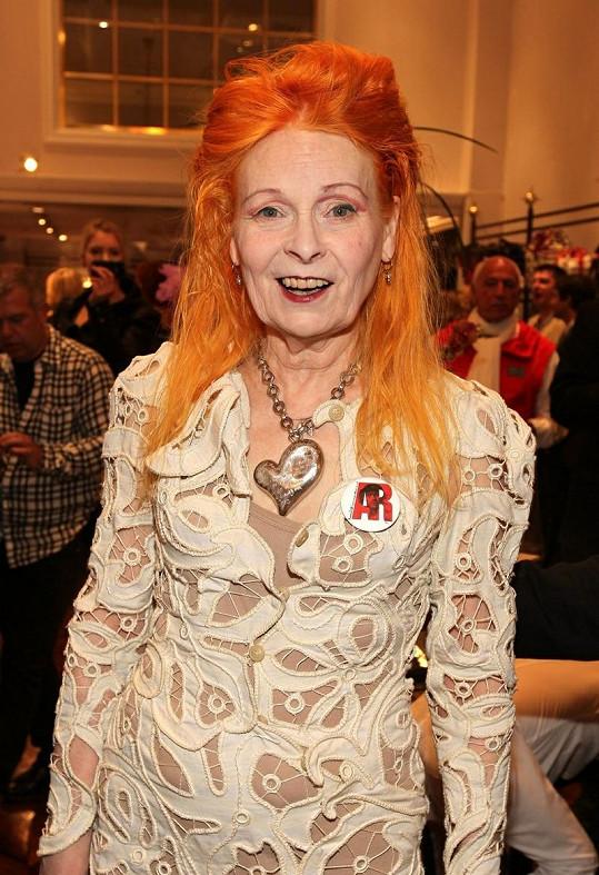 Vivienne Westwood s náhrdelníkem z palladia.
