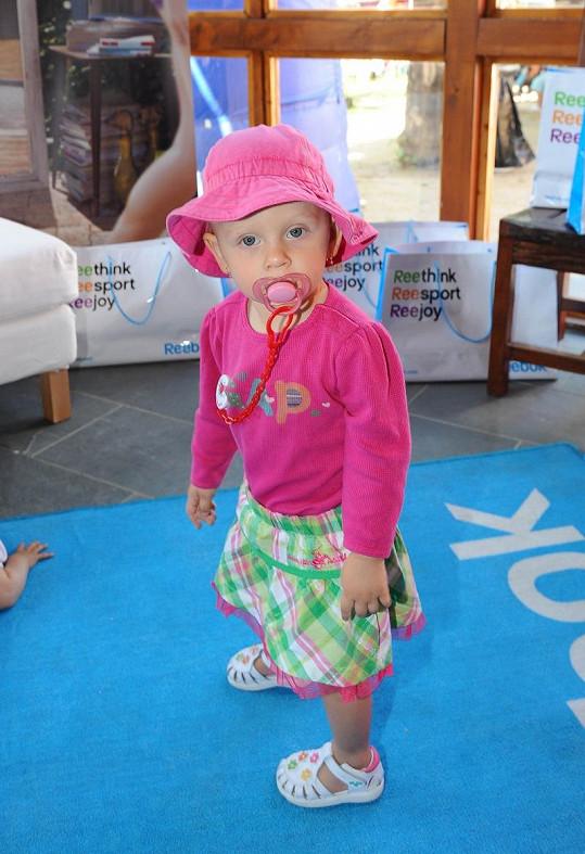 Dcera Zuzany Belohorcové Salma pózuje jako modelka.