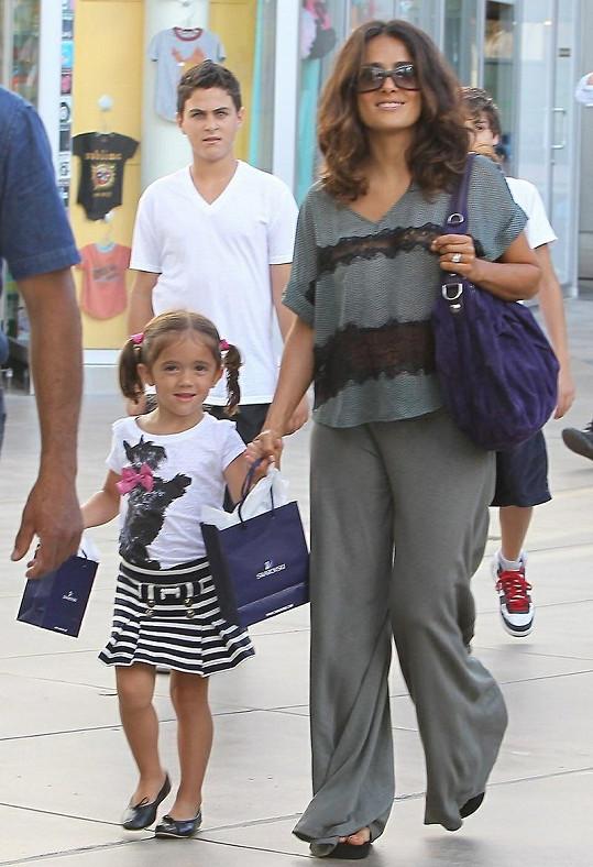 Salma Hayek a její dcera Valentina Paloma Pinault.