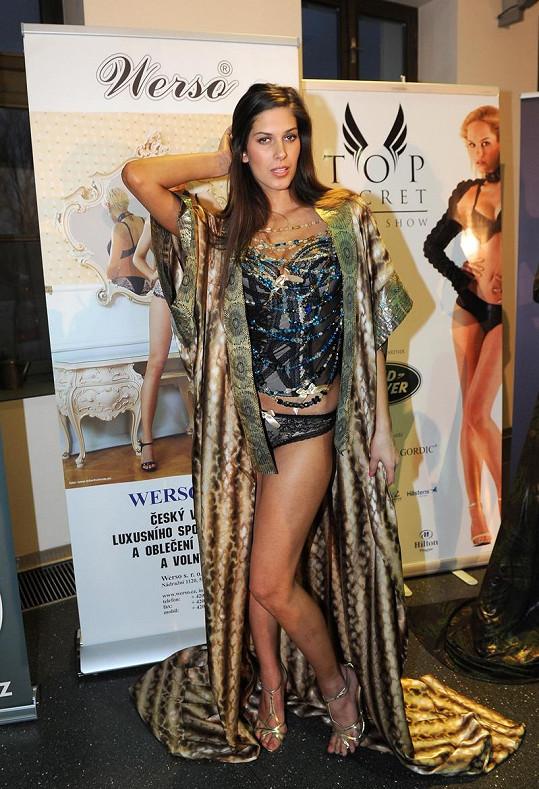 Aneta Vignerová v sexy prádélku.