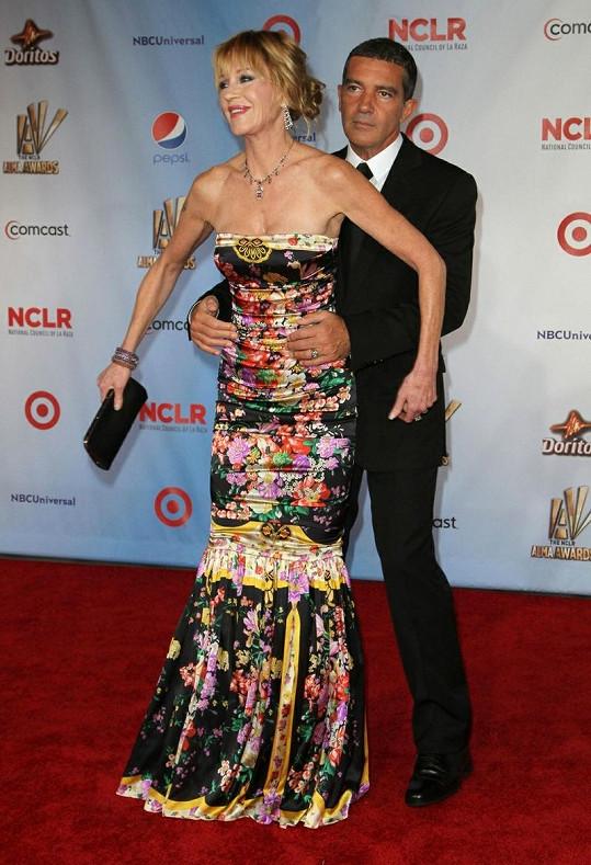 Melanie Griffith s manželem Antoniem.