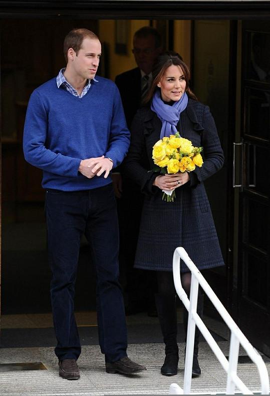 Williamovi se jistě ulevilo, když si mohl svou ženu odvézt domů.