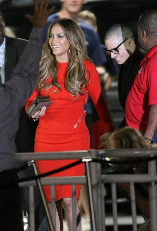 Jennifer Lopez se svým tanečníkem.