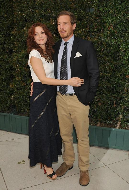 Herečka Drew Barrymore s přítelem Willem Kopelmanem.
