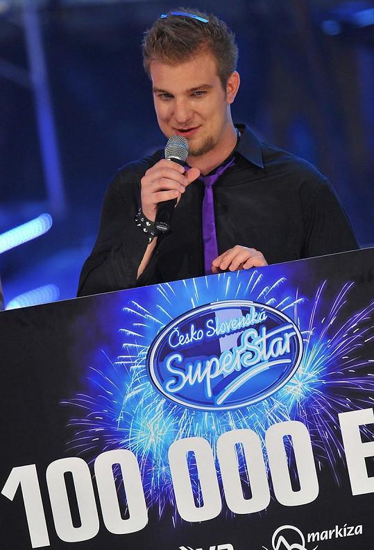 Lukáš Adamec krátce po svém vítěství v SuperStar