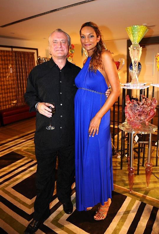 Lejla s architektem Bořkem Šípkem.