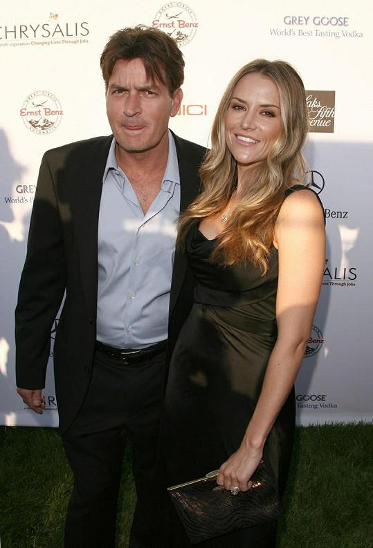 Charlie Sheen se svou exmanželkou Brooke Mueller.