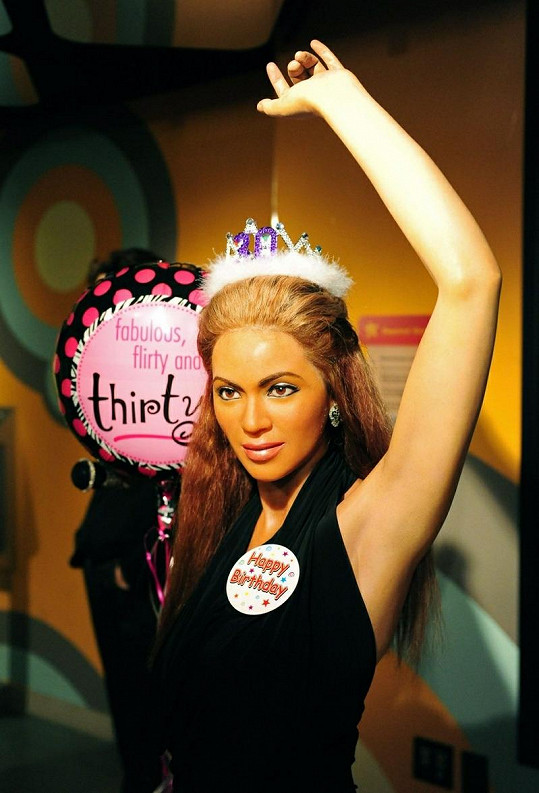Beyoncé v muzeu voskových figurín Madame Tussaud ve Washingtonu.