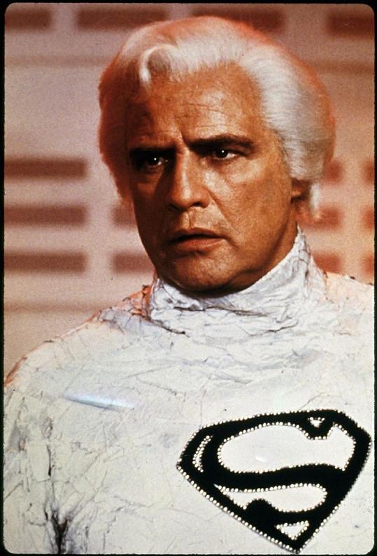 Marlon Brando v Supermanovi z roku 1978.