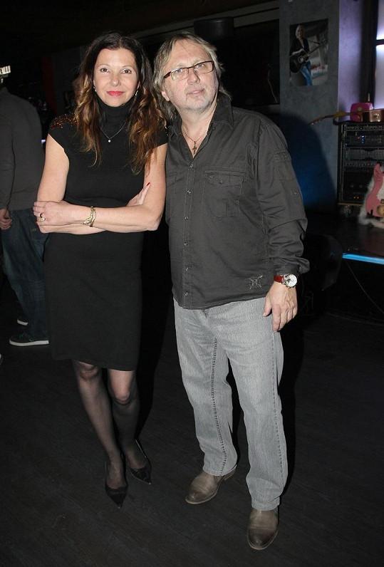 Dalibor Janda s manželkou Jiřinou
