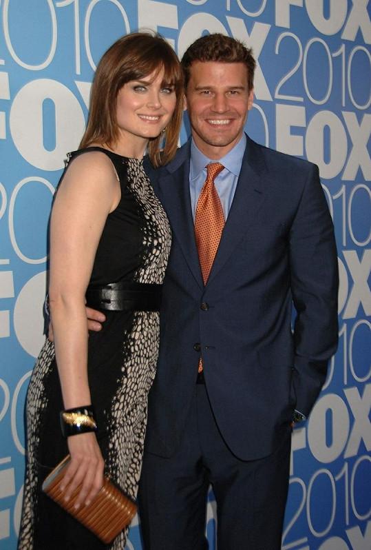 Emily s kolegou Davidem Boreanazem.