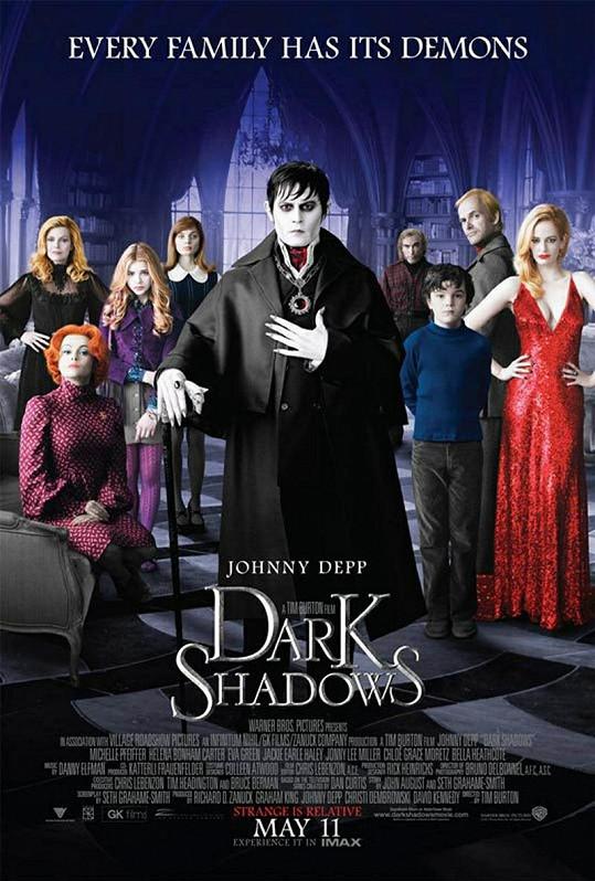 Plakát k filmu Dark Shadows - Temné stíny.