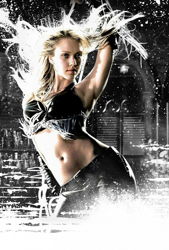 Svůdná Jessica ve filmu Sin City.