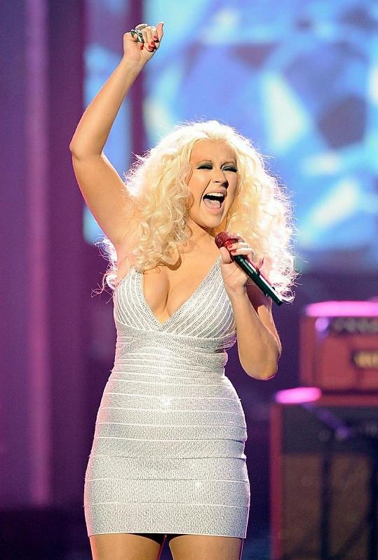 Christina na předávání hudebních cen American Music Awards.