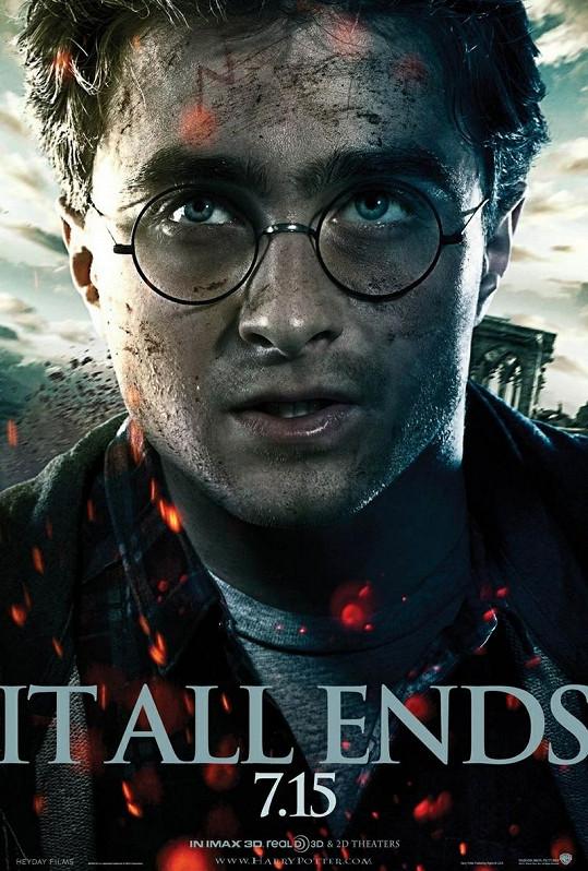 Britský herec jako Harry Potter.