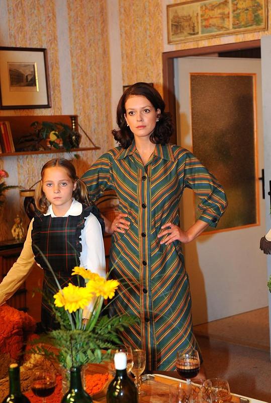 Andrea Kerestešová s jednou z dětských hereček.