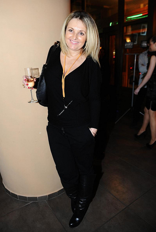 Kateřina Šlégrová na párty.