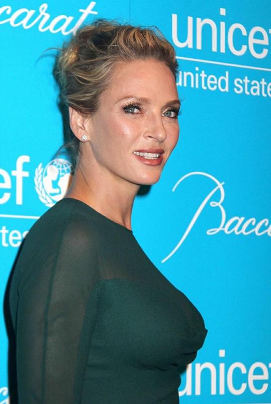 Uma Thurman na večírku UNICEF.