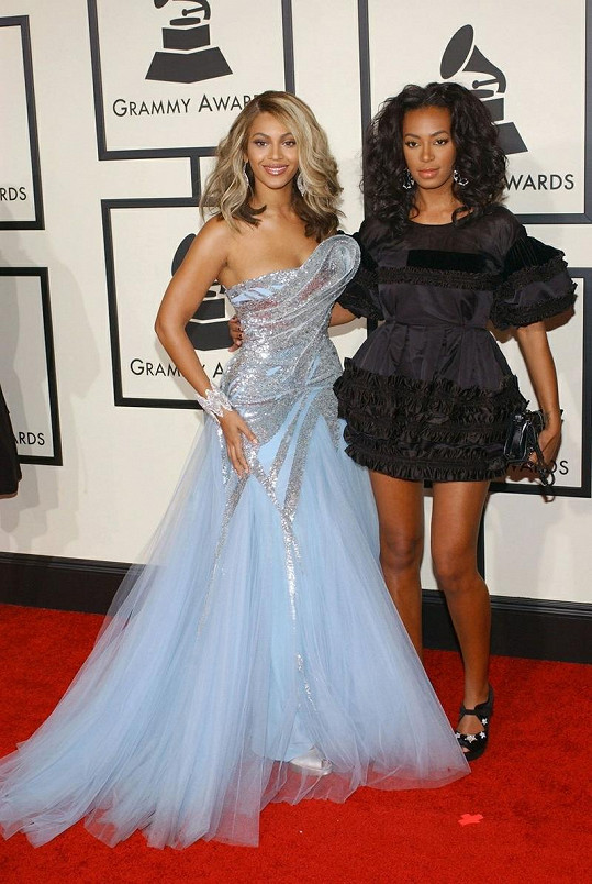 Zpěvačky Beyoncé a Solange Knowles.