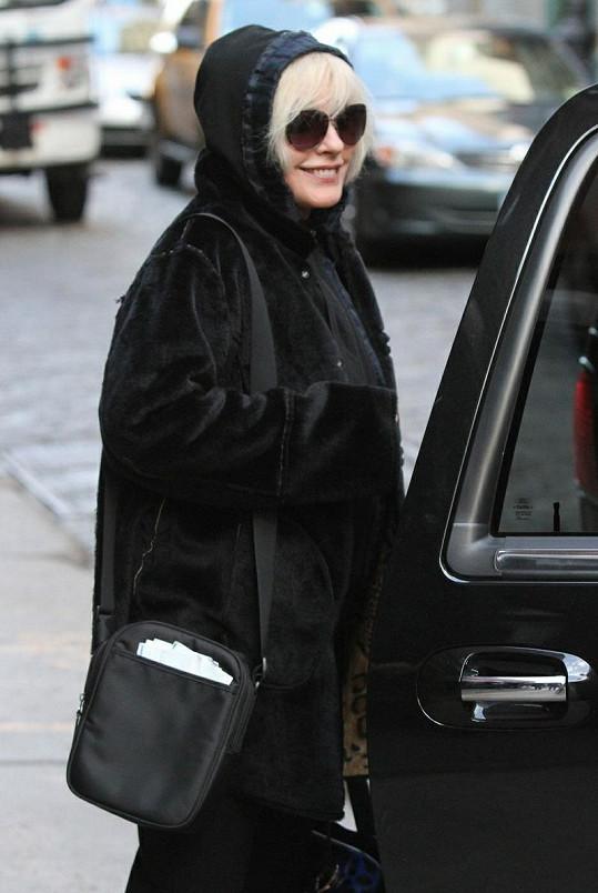 Zpěvačka Debbie Harry v New Yorku.
