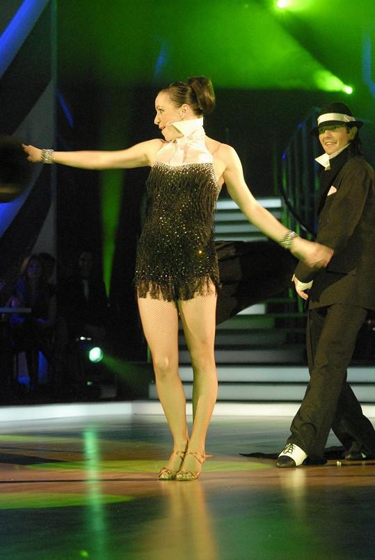 Tatiana Vilhelmová to ve StarDance rozjížděla s Petrem Čadkem.