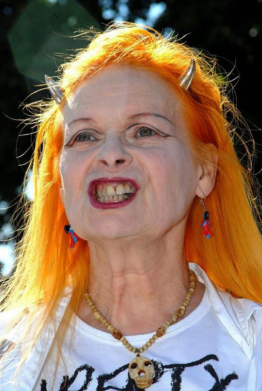 Extravagantní návrhářka Vivienne Westwood.