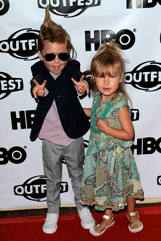 Děti slavné herečky Stella a Liam.