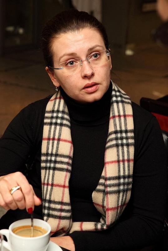 Dana Morávková bez make-upu.