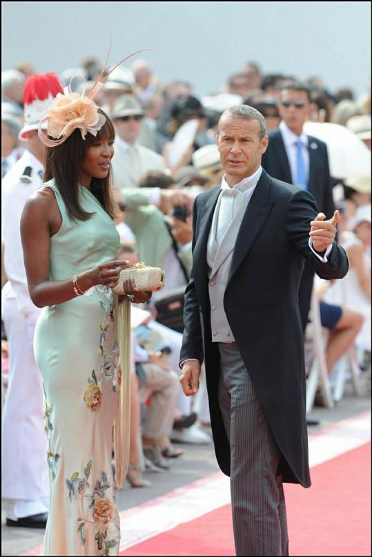 Topmodelka Naomi Campbell se svým přítelem Vladimirem Doroninem.