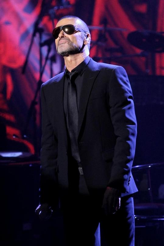 George Michael na koncertu v Praze.