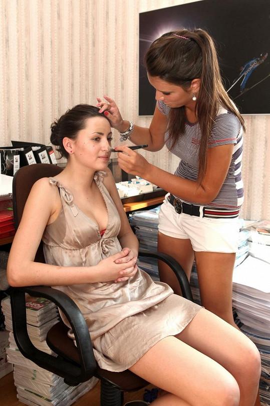 Soňa Novotná se věnuje modelingu.