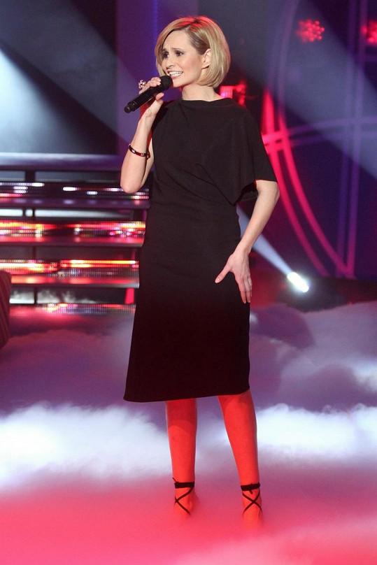 Monika Absolonová během vystoupení.