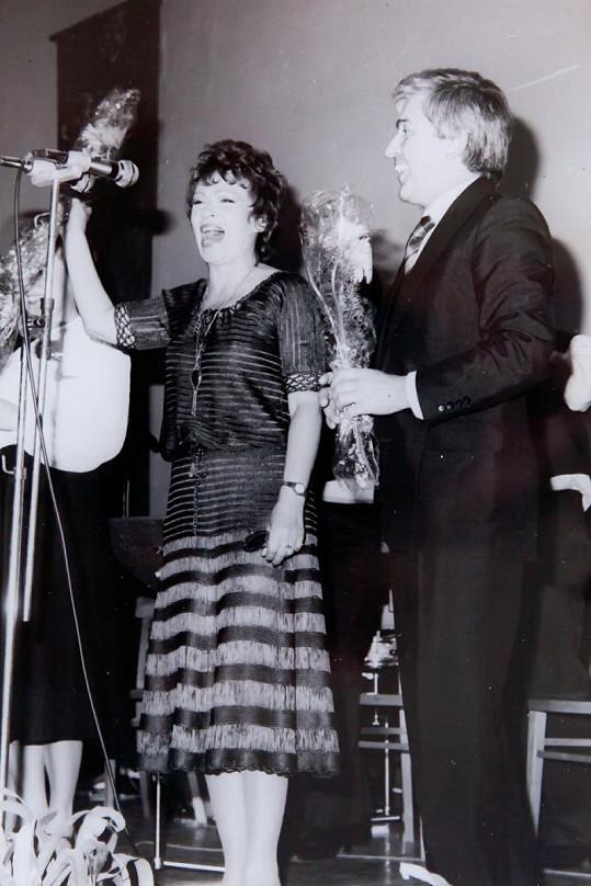 Jožka s Jiřinou Bohdalovou.