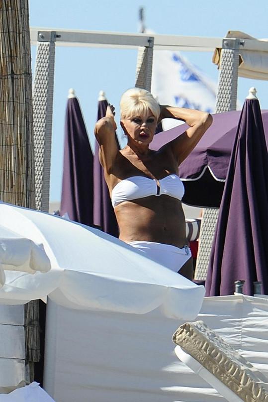 Čerstvě trojnásobná babička Ivana Trump.