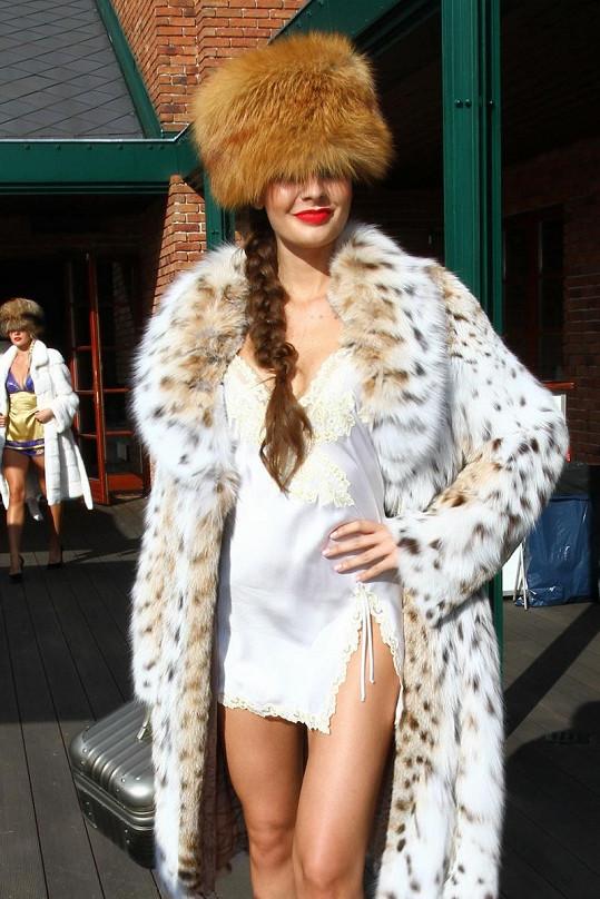 Tereza Chlebovská na módní přehlídce