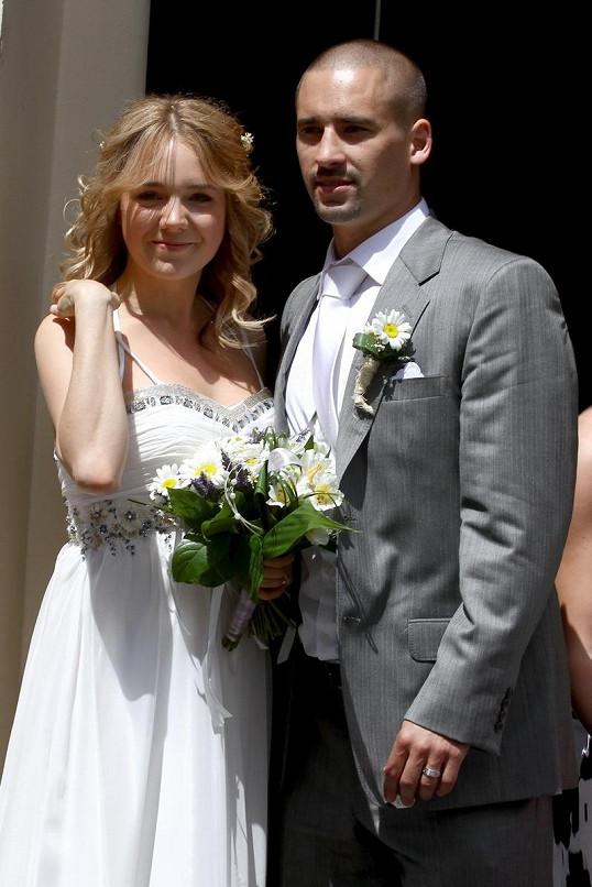 Lucie Vondráčková a Tomáš Plekanec se vzali před třemi lety.