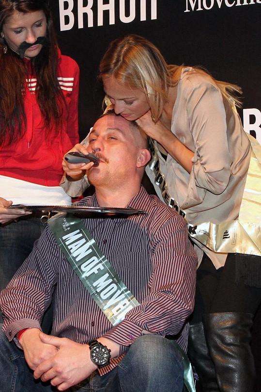 Renata Langmannová a vítězný DJ Orion.