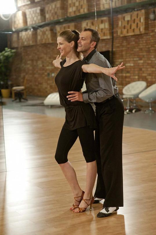 Pavlína Němcová trénuje s Janem Tománkem. A prý jí to jde skvěle.