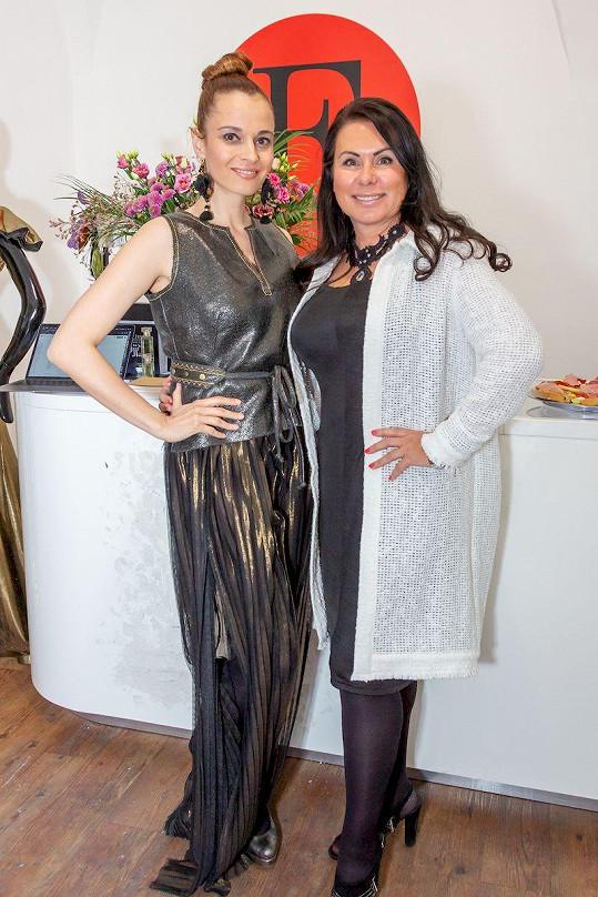Lívia se slovenskou návrhářkou Jenny Jeshko.