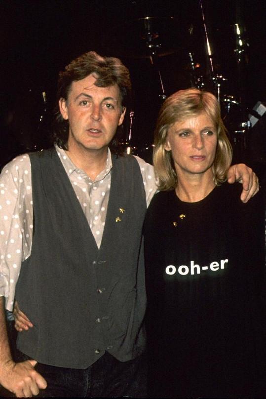 Paul McCartney a jeho první žena Linda.