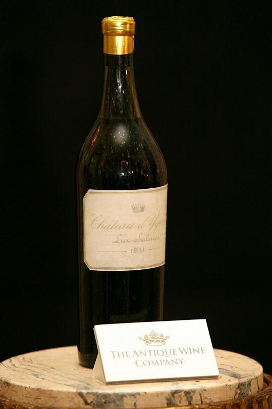 Nejdražší bílé víno světa.