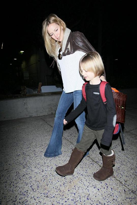 Kate Hudson se starším synem Ryderem.