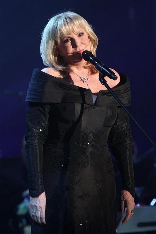 Hana Zagorová zapěla jeden ze svých hitů.