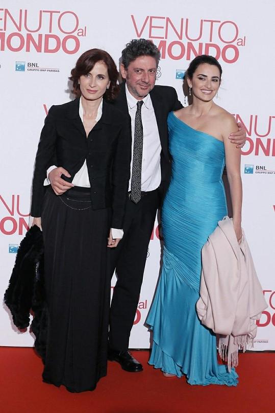 Zleva: Spisovatelka Margaret Mazzantini, její manžel a režisér Sergio Castellitto a Penélope Cruz.