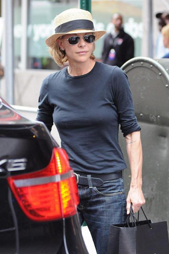 Meg Ryan nakupuje v New Yorku.