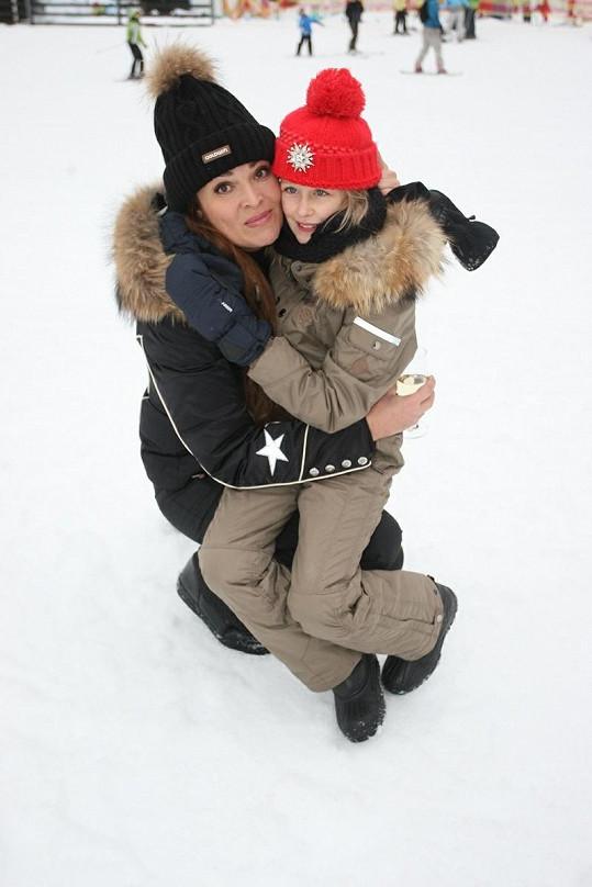 Mahulena s dcerou Márinkou.