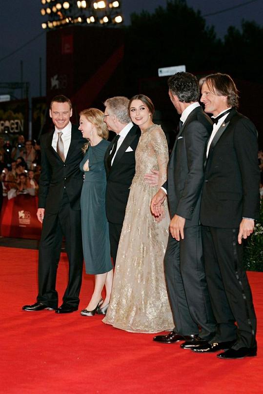 Keira spolu s herci a režisérem nového filmu Nebezpečná metoda.
