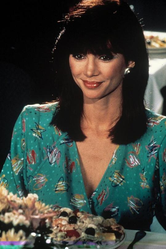 Herečka ve své nejslavnější roli Pamely Ewing.