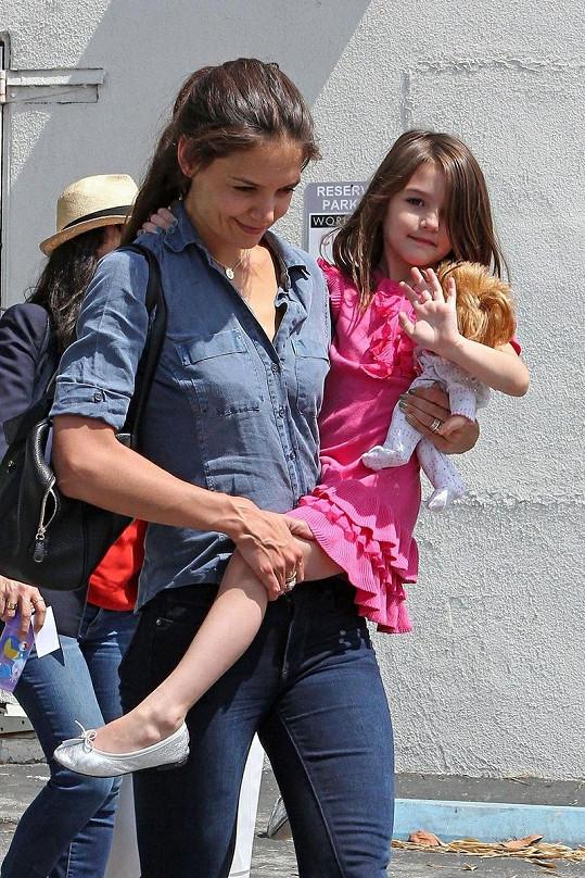 Katie Holmes a její dcerka Suri.