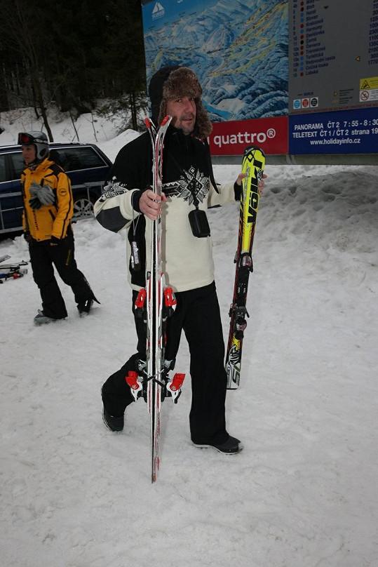 Martin Trnavský na lyžích.